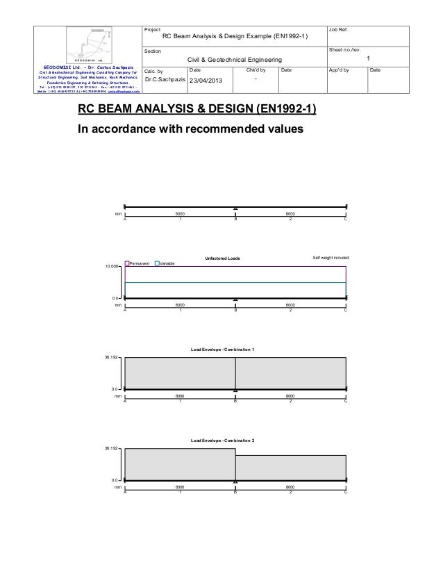 Project  Job Ref.  RC Beam Analysis & Design Example (EN1992-1) Sheet no./rev.  Section  1  Civil & Geotechnical Engineeri...