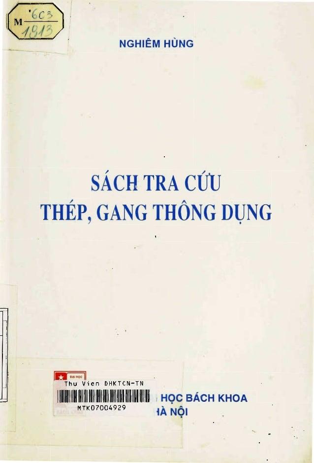Sách tra cứu gang thép _ Nghiêm Hùng
