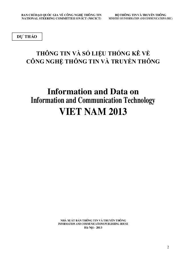 2 BAN CHỈ ĐẠO QUỐC GIA VỀ CÔNG NGHỆ THÔNG TIN NATIONAL STEERING COMMITTEE ON ICT (NSCICT) BỘ THÔNG TIN VÀ TRUYỀN THÔNG MIN...