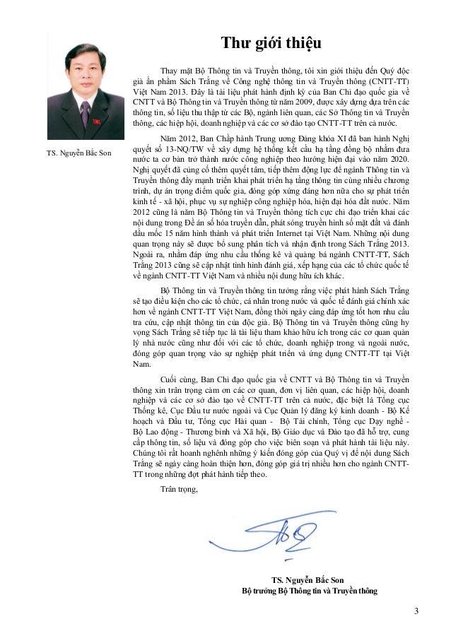3 TS. Nguyễn Bắc Son Thƣ giới thiệu Thay mặt Bộ Thông tin và Truyền thông, tôi xin giới thiệu đến Quý độc giả ấn phẩm Sách...