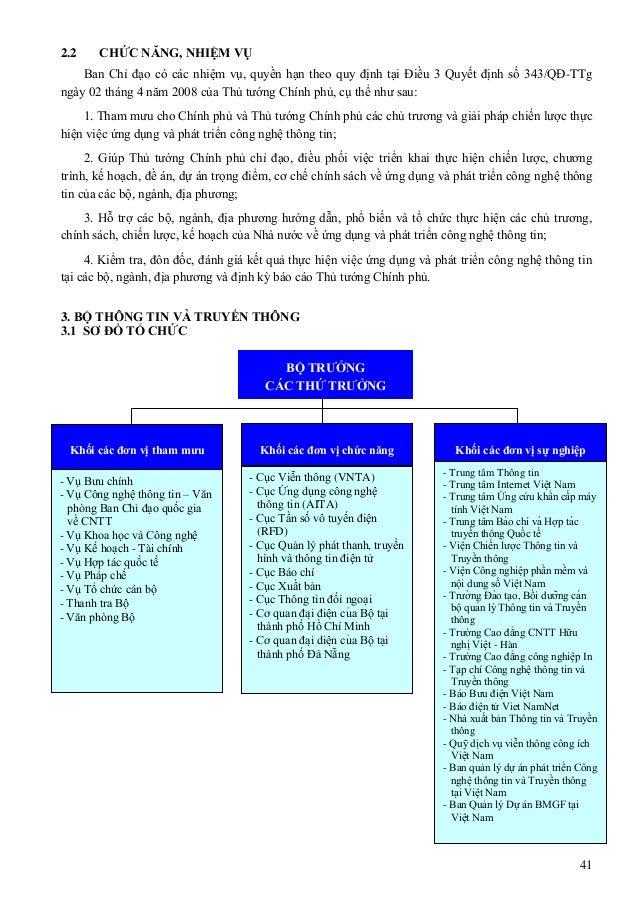 41 2.2 CHỨC NĂNG, NHIỆM VỤ Ban Chỉ đạo có các nhiệm vụ, quyền hạn theo quy định tại Điều 3 Quyết định số 343/QĐ-TTg ngày 0...