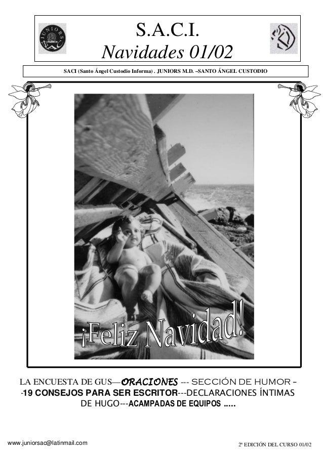 S.A.C.I. Navidades 01/02 2ª EDICIÓN DEL CURSO 01/02 LA ENCUESTA DE GUS—ORACIONESORACIONESORACIONESORACIONES --- SECCIÓN DE...