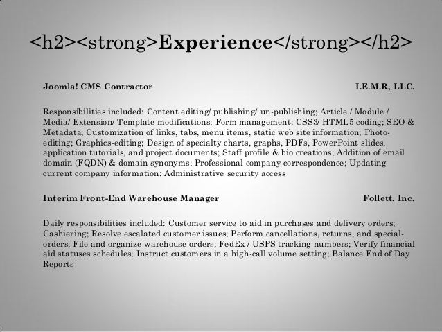 sacmyers virtual resume