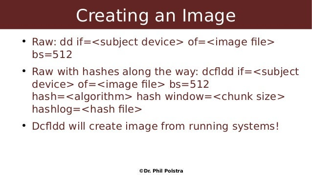 SACON) Dr  Phil Polstra - windows & linux forensics