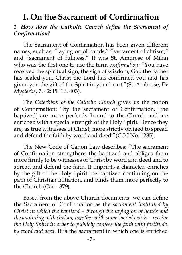 Sacrament of confirmation 7 i on the expocarfo