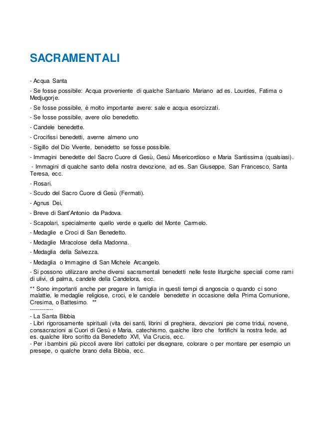 SACRAMENTALI - Acqua Santa - Se fosse possibile: Acqua proveniente di qualche Santuario Mariano ad es. Lourdes, Fatima o M...