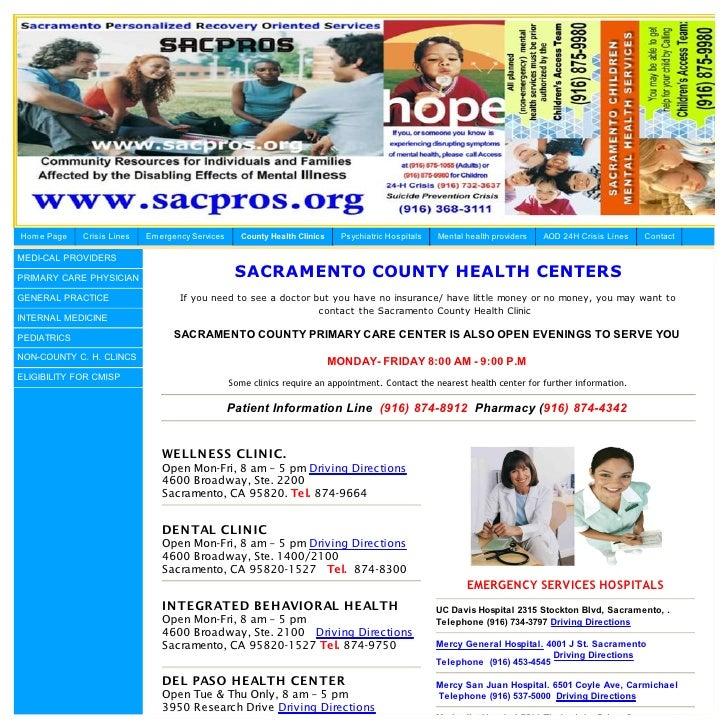 Sacramento County Medical Health Care