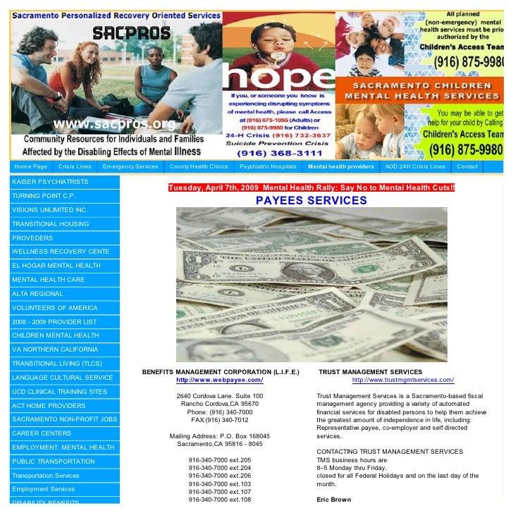 Sacramento County Payee Services