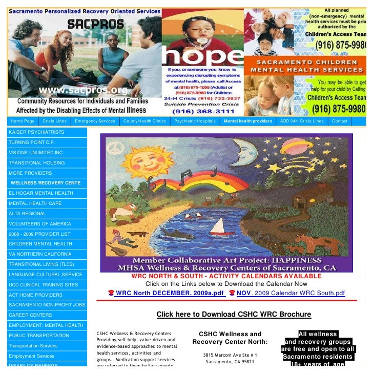 Sacramento County Wellnessand Recovery Center Wrc