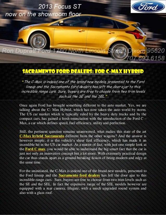 Sacramento Ford Dealers >> Sacramento Ford Dealers For C Max Hybrid