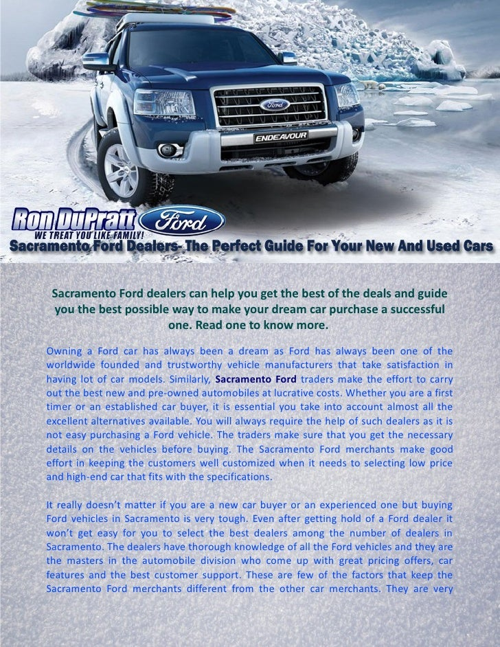 Sacramento Ford Dealers >> Sacramento Ford Dealers The Perfect Guide For Your New And Used Cars