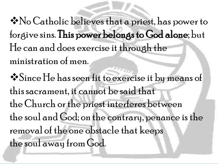 Sacrament Of Penance And Reconciliation