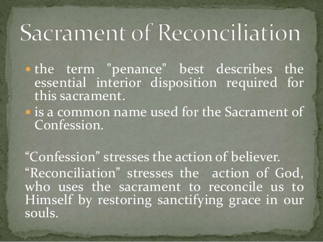 sacrament of penance Confession schedule confessions are heard from 3:30 pm to 5:00 pm saturday  afternoons, first fridays at 9 am 5 pm, during all sunday masses and by.