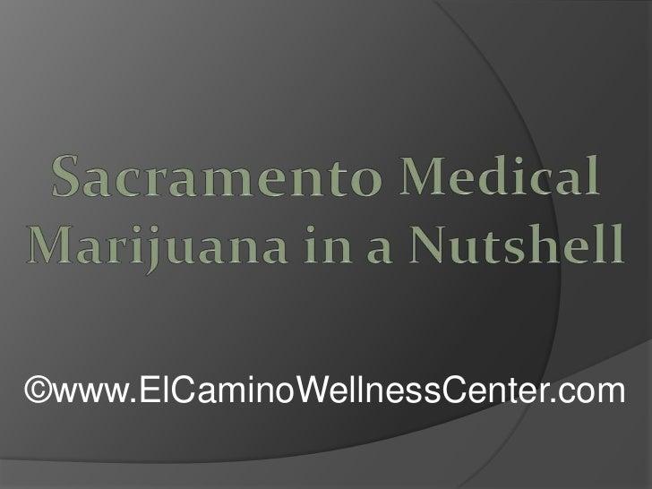 Sacramento Medical Marijuana in a Nutshell<br />©www.ElCaminoWellnessCenter.com<br />