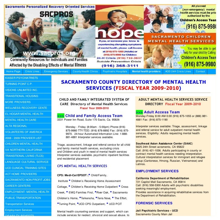 Home Page      Crisis Lines   Emergency Services    County Health Clinics      Psychiatric Hospitals      Mental health pr...