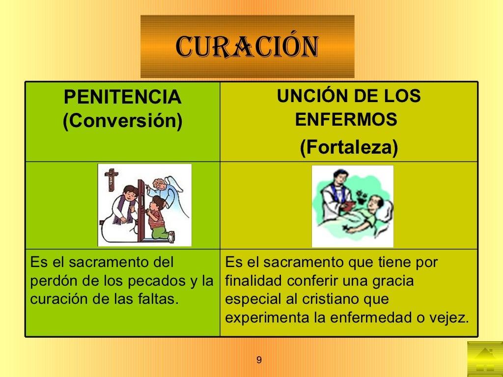 CURACIÓN PENITENCIA   (Conversión) UNCIÓN DE LOS ENFERMOS   (Fortaleza) Es el sacramento del perdón de los pecados y la cu...