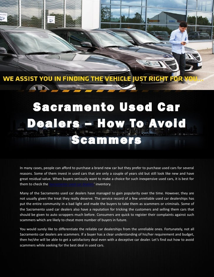 Sacramento used car dealers – how to avoid scammers