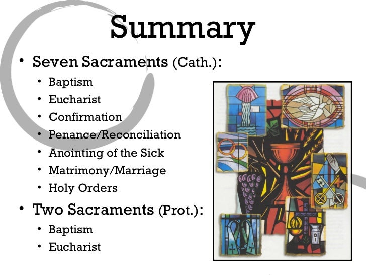 7 sacraments Do you know what a sacrament is do you know how many there are can you name them do you know what they do these are important questions that every catholic should be able to answer if it's a bit fuzzy or confusing, here is a short primer that lays out the big picture of our relationship to the.
