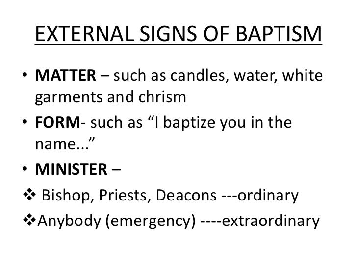 Sacraments Baptism Confirmation