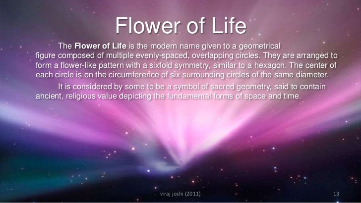 Sacred geometry for Flowers that mean life