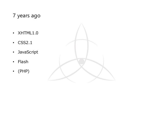 7 years ago • XHTML1.0 • CSS2.1 • JavaScript • Flash • (PHP)