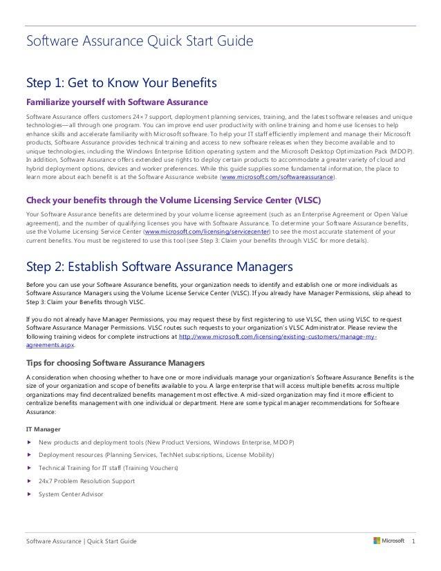microsoft software assurance  site