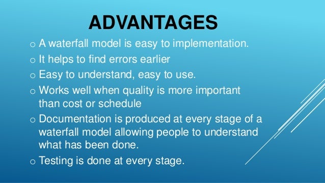 Sdlc model waterfall iterative waterfall spiral for Waterfall methodology advantages and disadvantages
