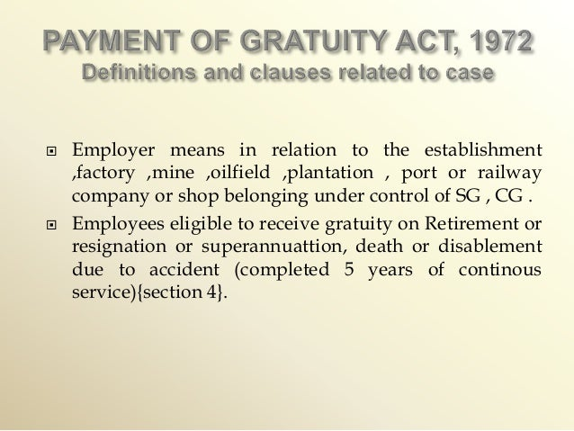 gratuity act Useful for law students, mba- hr students, cs students, employees , employer i have also mentioned a list of forms generally used during gratuity every body.
