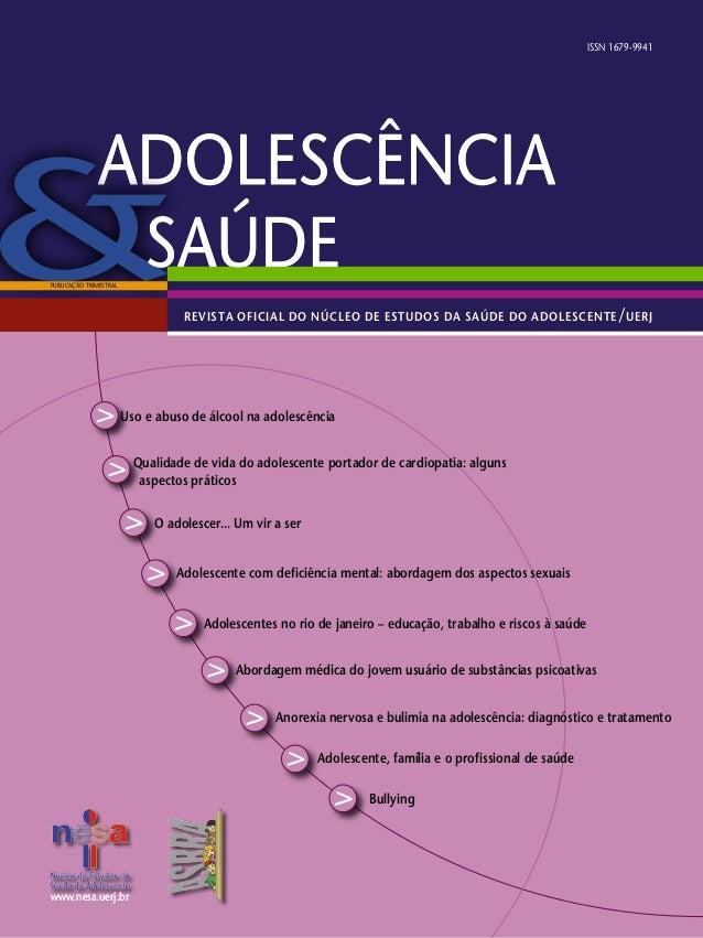 www.nesa.uerj.brwww.nesa.uerj.br Qualidade de vida do adolescente portador de cardiopatia: alguns aspectos práticos Adoles...
