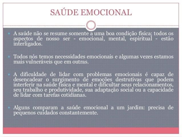 Saúde emocional Slide 2
