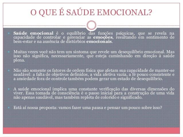 Saúde emocional Slide 3