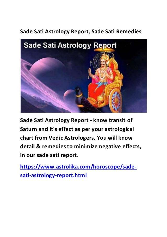 Sade sati astrology report - astrolika com