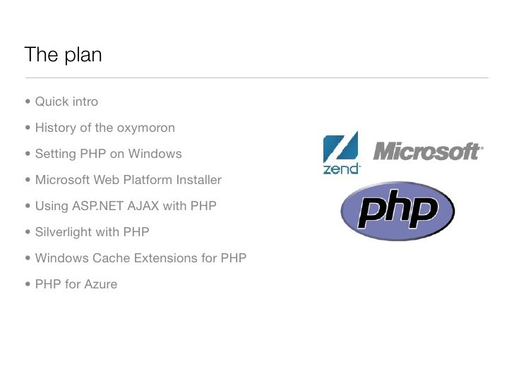 An Oxymoron's Guide to PHP on Windows