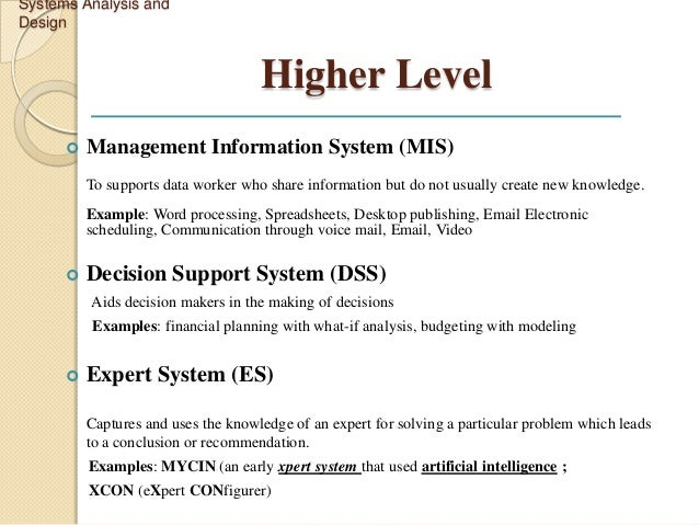 information systems case analysis 04012018 information systems analysis and design-development life cycle businesses and organizations use various types of information systems to.