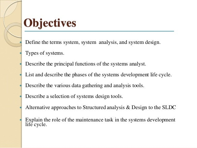 Define The Concept System Analysis And Design
