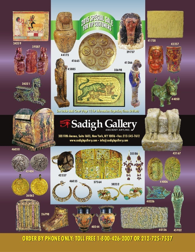303 Fifth Avenue, Suite 1603, New York, NY 10016 • Fax: 212-545-7612 www.sadighgallery.com • info@sadighgallery.com 33698 ...