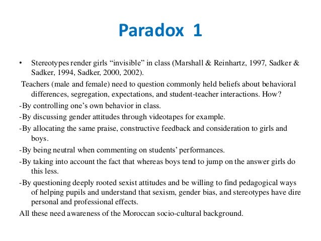 Chapter 7: The Issue of Gender in Elementary and Secondary Education