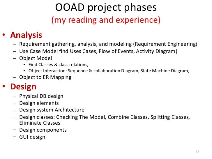 Structured Vs, Object Oriented Analysis and Design