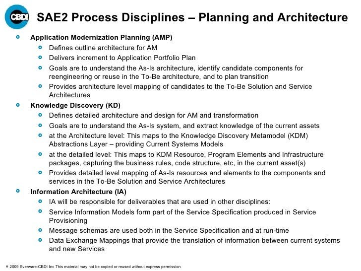 Approach Determines Type/Level of Activity Implementation Architecture Implementation Deployment Architecture Technology A...