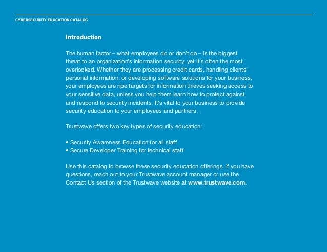 Trustwave Cybersecurity Education Catalog Slide 2