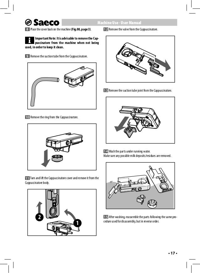cappuccinatore saeco royal manuel professionnel pdf