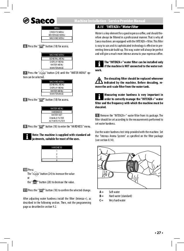 Saeco Aulika User Manual