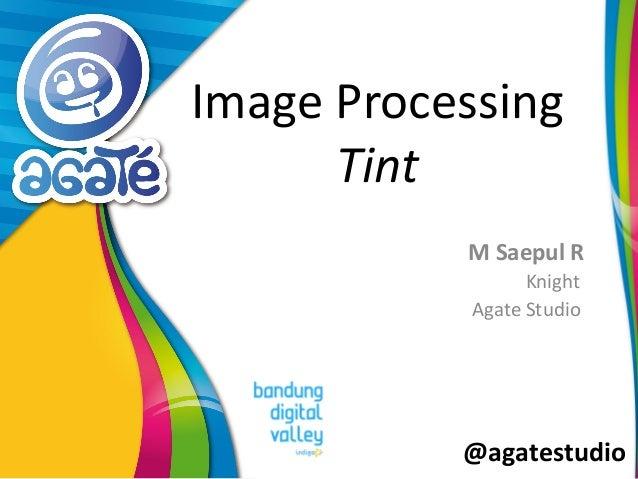 @agatestudio Image Processing Tint M Saepul R Knight Agate Studio