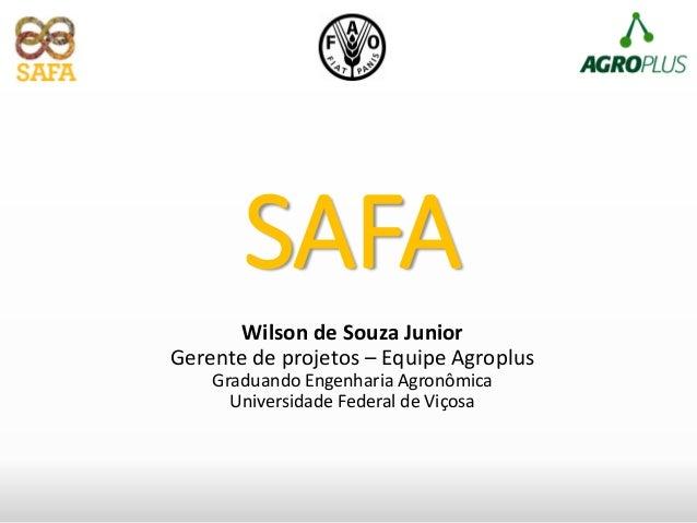 Wilson de Souza Junior Gerente de projetos – Equipe Agroplus Graduando Engenharia Agronômica Universidade Federal de Viços...