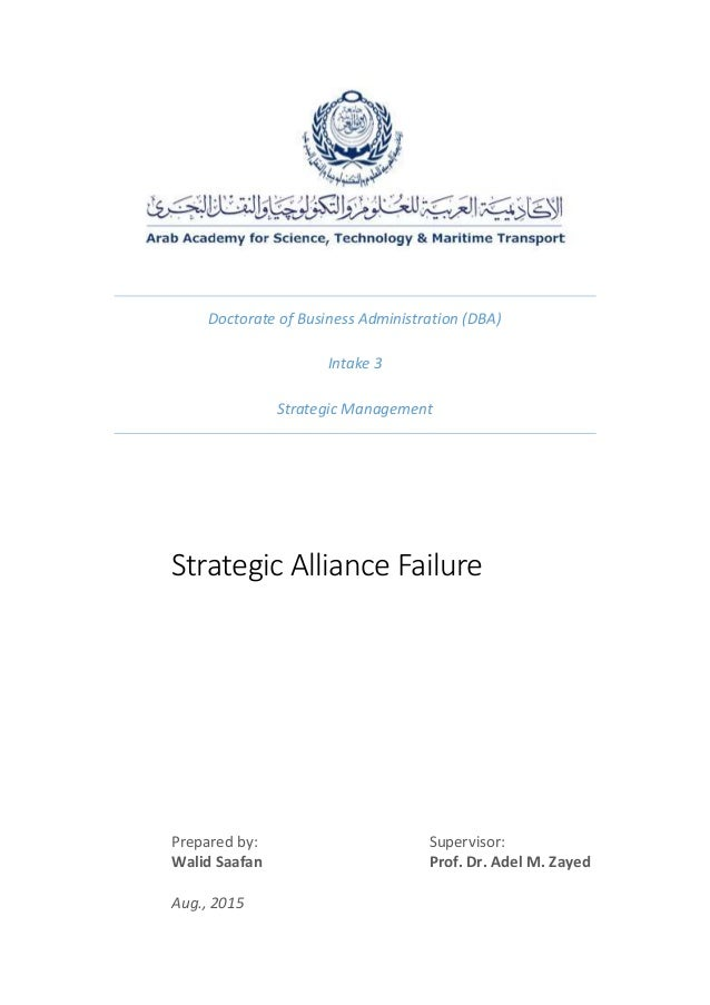 strategic alliances fit or failure An overview of strategic alliances  strategic alliances projects often fail because of tactical errors made by management by using a well managed strategic alliances agreement, companies can.