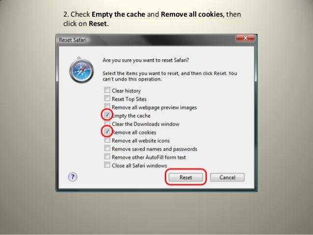 how to delete the cache in safari
