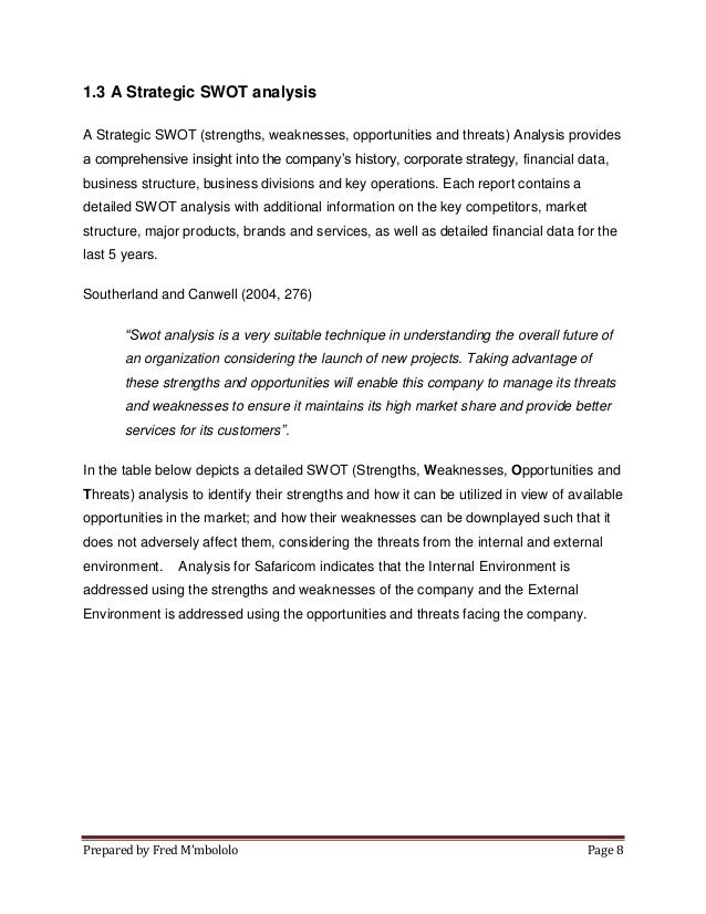 environmental analysis and swot on safaricom m pesa Sustainability report 2014/15 - vodafone.