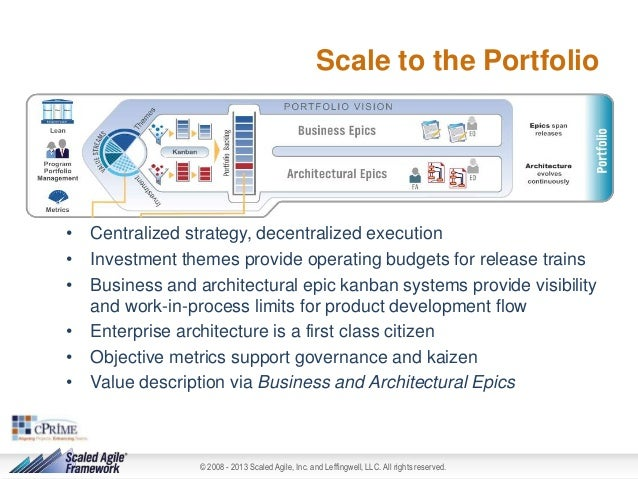 Scale to the Portfolio  • Centralized strategy, decentralized execution • Investment themes provide operating budgets for ...