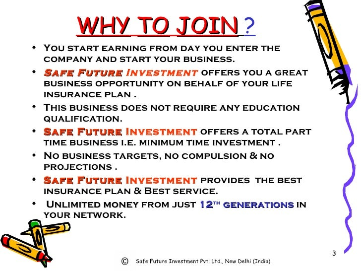 WHY   TO   JOIN   ? <ul><li>You start earning from day you enter the company and start your business. </li></ul><ul><li>Sa...