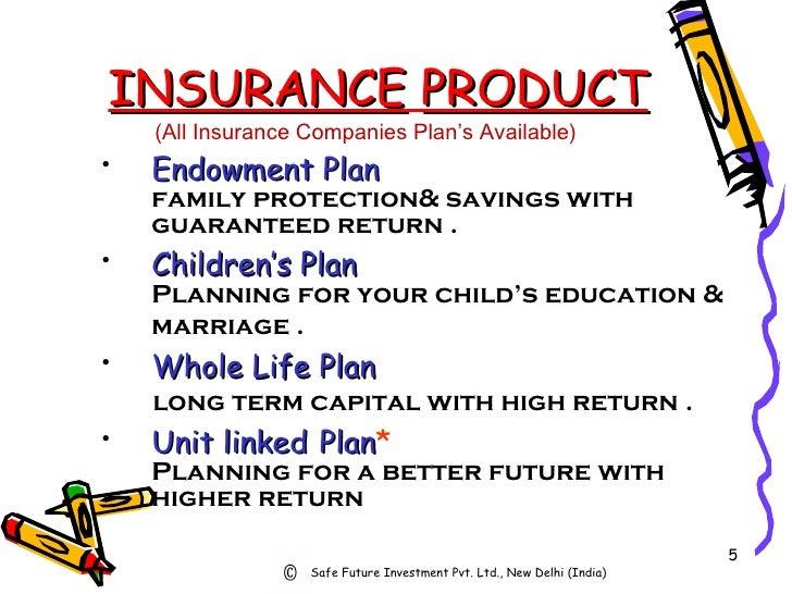 INSURANCE   PRODUCT <ul><li>(All Insurance Companies Plan's Available) </li></ul><ul><li>Endowment   Plan   family protect...